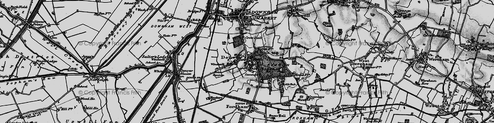 Old map of Whin Common in 1898