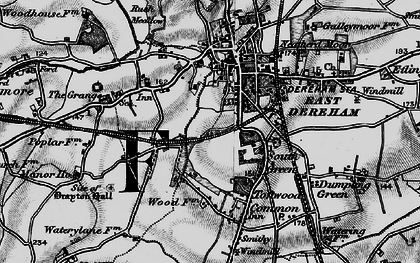Old map of Dereham in 1898