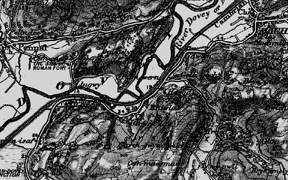 Old map of Derwenlas in 1899