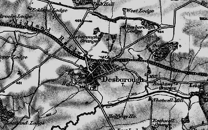 Old map of Desborough in 1898