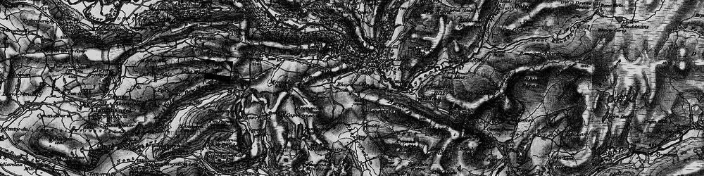 Old map of Devil's Bridge in 1899