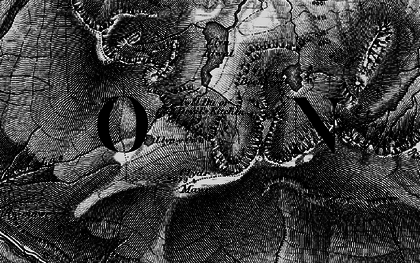 Old map of Y Gribin in 1899