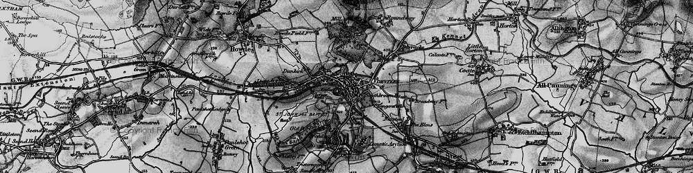 Old map of Devizes in 1898