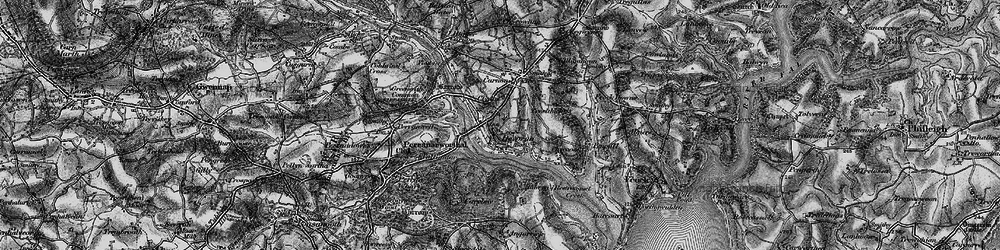 Old map of Devoran in 1895
