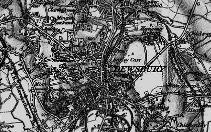 Old map of Dewsbury in 1896