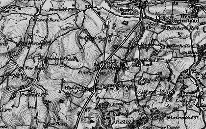 Old map of Woodmans Stud in 1895