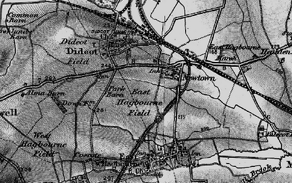 Old map of Didcot in 1895