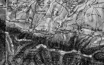 Old map of Linchball Wood in 1895