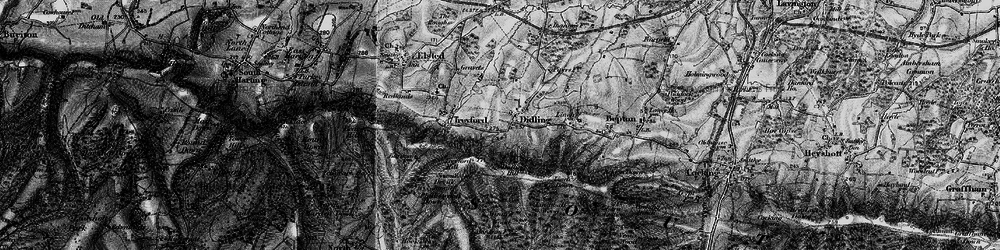 Old map of Winden Wood in 1895
