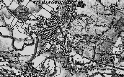 Old map of Didsbury in 1896
