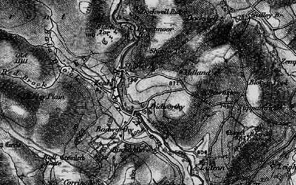 Old map of Avon Dam Reservoir in 1898
