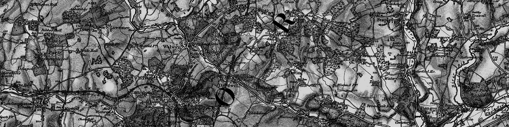 Old map of Digswell in 1896