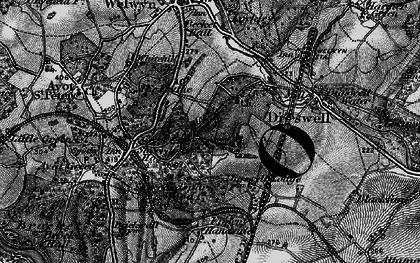 Old map of Digswell Park in 1896