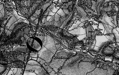 Old map of Digswell Water in 1896