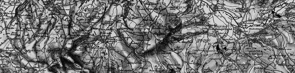 Old map of Afon Feinog in 1898