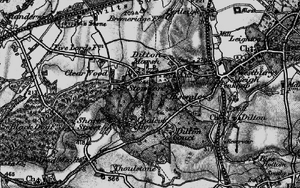 Old map of Dilton Marsh in 1898