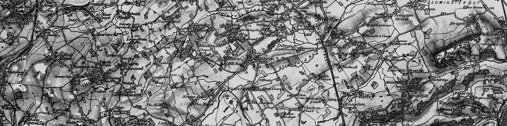 Old map of Dilwyn in 1899