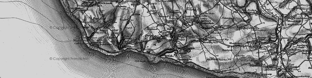 Old map of Tir Abad in 1897