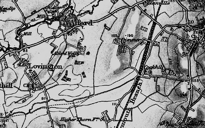 Old map of Alford Fields in 1898