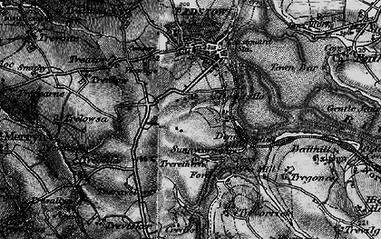 Old map of Dinas in 1895