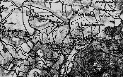 Old map of Wyddgrug in 1898