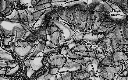 Old map of Afon Cynin in 1898
