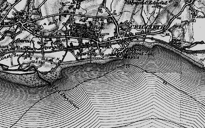 Old map of Dinas in 1899