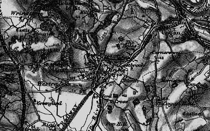 Old map of Dinas Powis in 1898