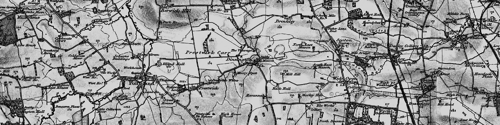 Old map of Toft Hill in 1897