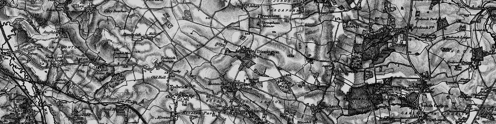 Old map of Dinnington in 1899