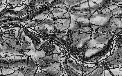 Old map of Allerford in 1896