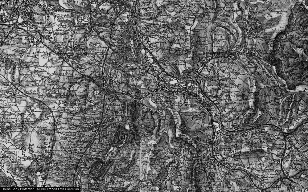 Old Map of Disley, 1896 in 1896