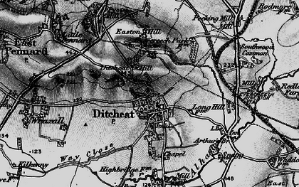 Old map of Ditcheat in 1898