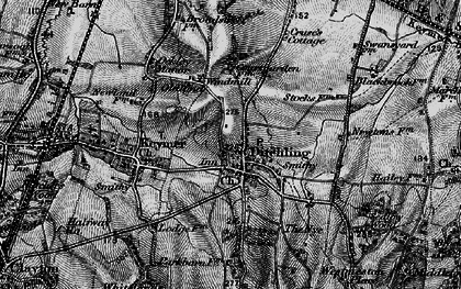 Old map of Ditchling in 1895