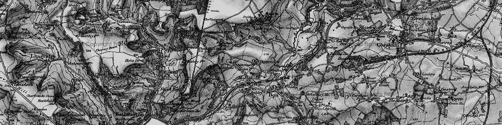 Old map of Ditteridge in 1898