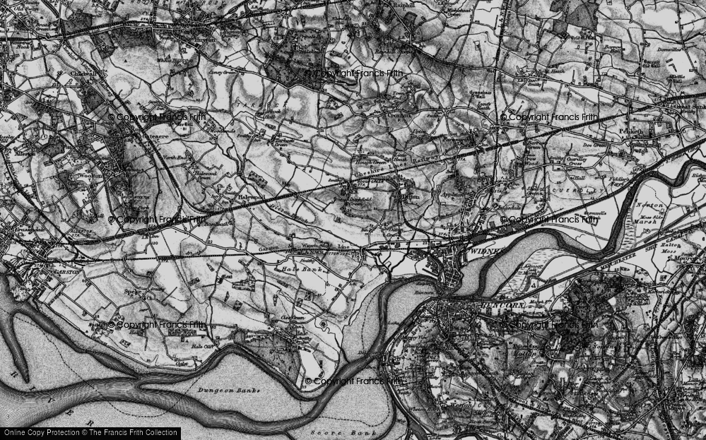 Old Map of Ditton, 1896 in 1896