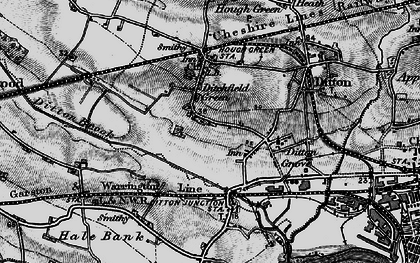 Old map of Ditton in 1896