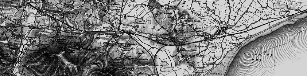 Old map of 1066 Country Walk in 1895