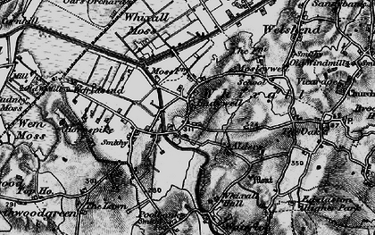 Old map of Whixall Moss in 1897