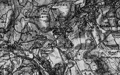 Old map of Wooston in 1898