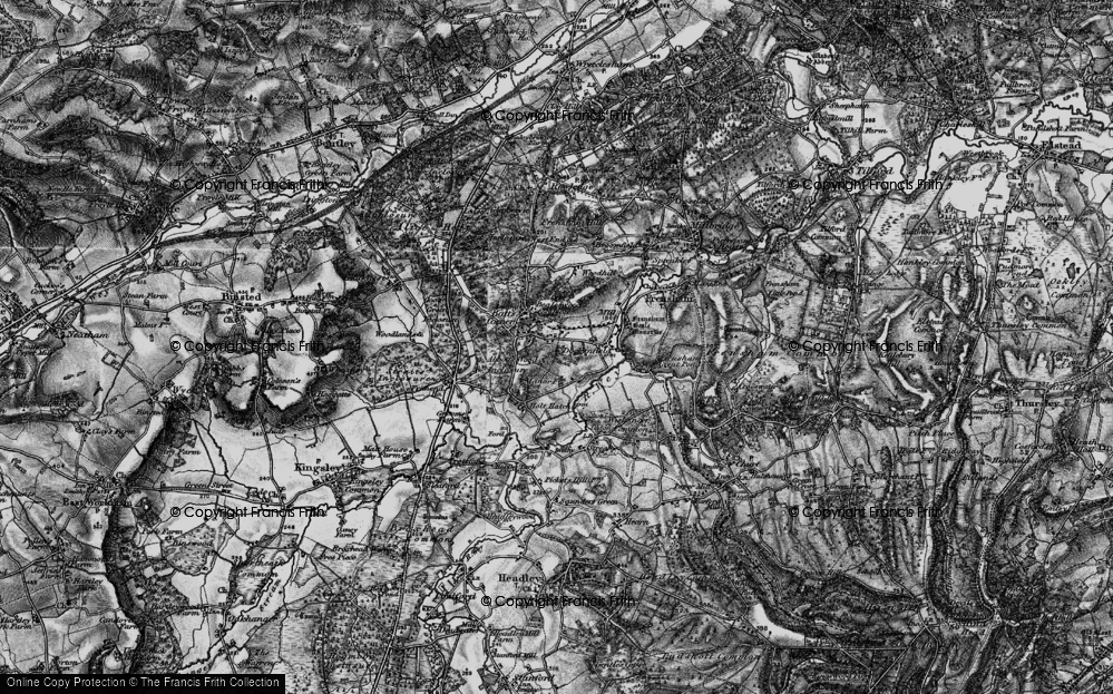 Old Map of Historic Map covering Abbots Wood Inclosure in 1895