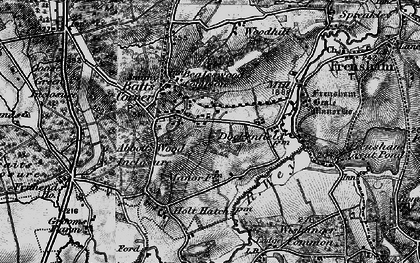 Old map of Abbots Wood Inclosure in 1895