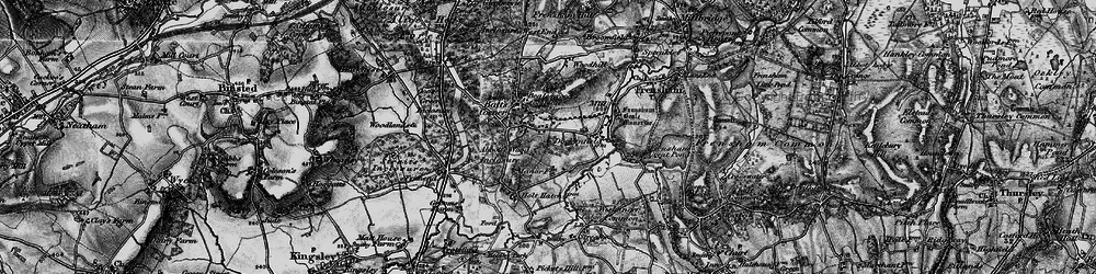 Old map of Wishanger Lodge in 1895