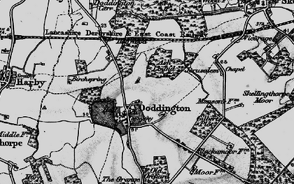 Old map of Ash Lound in 1899