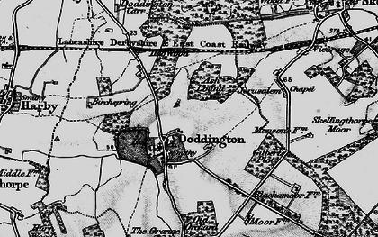 Old map of Doddington in 1899