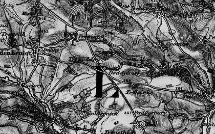 Old map of Doddycross in 1896