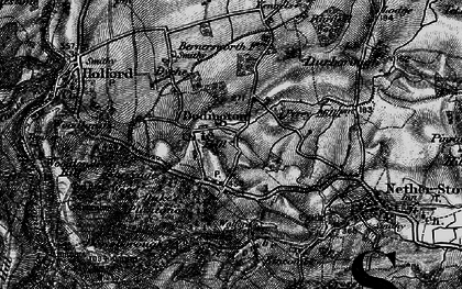 Old map of Dodington in 1898