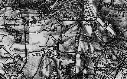 Old map of Badger Slade Wood in 1898