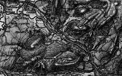 Old map of Afon Iaen in 1899