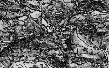 Old map of Lawnt in 1899
